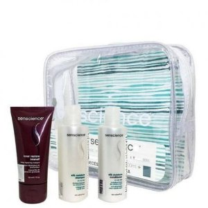 Kit Travel Senscience - Máscara Inner Restore Intensif 50ml + Shampoo e Condicionador Silk Moisture 100ml