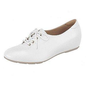 Sapato Sapatenis Feminino Branco Com cadarço Palmilha Ultra Conforto Modare