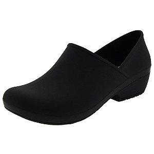 Sapato Feminino Preto Fechado Enfermagem Cozinha Gastronomia Profissional Susi Boa Onda Impermeavel Flexivel Ultra Conforto