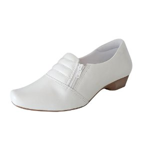 Sapato Branco Enfermagem Neftali Confort Couro