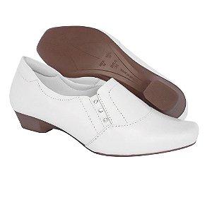Sapato Feminino Branco Enfermagem Couro Neftali Comfort