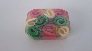 Sabonete Glicerinado Espiral Colorido