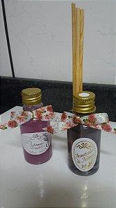 Mini Aromatizador e Mini Sabonete Líquido 30 ml Lavanda (20 unidades de cada)