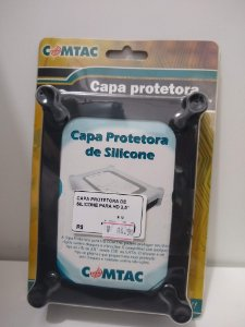 CAPA PROTETORA DE SILICONE HD 3.5'' COMTAC