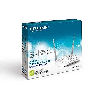 MODEM ROTEADOR WIRELESS N ADSL2+ 300MBPS 4P ANT FIXAS TD-W8961N