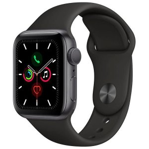 Apple Watch Series 5 44 mm - Seminovo de Vitrine - Space Gray/Black - 6 Meses de Garantia.