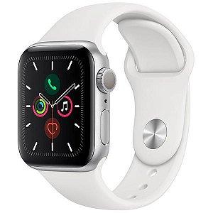 Apple Watch Series 5 40 mm MWV62LL/A A2092 - Silver/White - Novo Lacrado na caixa - 1 Ano de Garantia Apple.