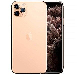 "Apple iPhone 11 Pro Max 256GB Super Retina OLED 6.5"" Tripla 12/12MP iOS - Dourado - Novo Lacrado na caixa - 1 Ano de Garantia Apple."