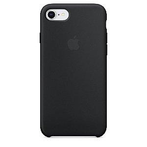Capa de silicone para iPhone 8 / 7 - Preta
