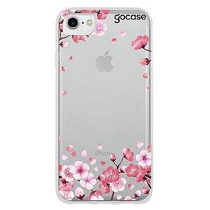 Capinha gocase para celular Pétalas de Cerejeira Glitter - Clean - IPhone 6, 7 e 8