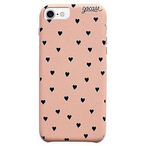 Capinha gocase para celular Fascino - Black Hearts - IPhone 7/8