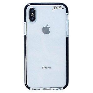 Capinha gocase para celular Anti-Impacto PRO - Clear Logo Black - IPhone X / XS