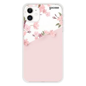 Capinha gocase para celular Classical Rosé Inicial Glitter - IPhone 11