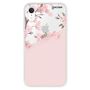 Capinha gocase para celular Classical Rosé Inicial Glitter - IPhone XR
