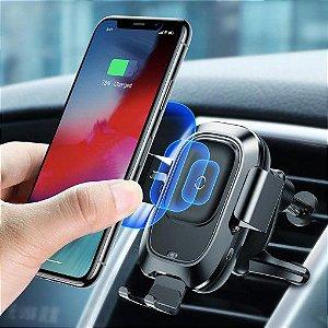 Suporte Veicular com Carregamento Sem Fio Inteligente Baseus - Compativel com iPhone - Novo Lacrado na Caixa