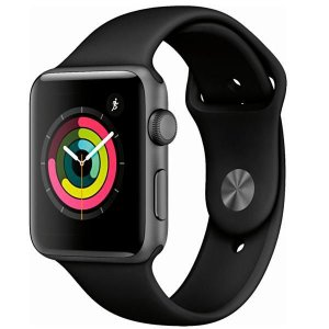 Apple Watch Series 3 42 mm MTF32LL / A A1859 - Space Gray / Black - Novo Lacrado na Caixa - 1 Ano de Garantia Apple