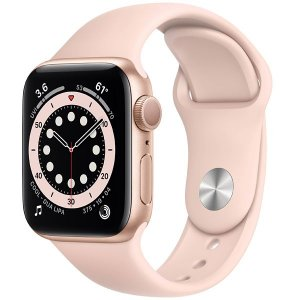 Apple Watch Series 6 40 mm A2291 MG123LL / A GPS - Gold Aluminum / Pink Sand - Novo Lacrado na caixa - 1 Ano de Garantia Apple