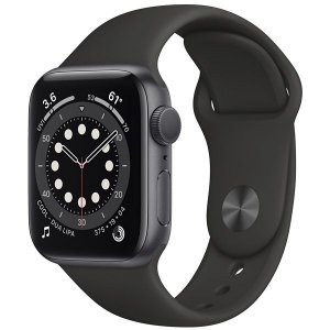 Apple Watch Series 6 40 mm A2291 MG133LL / A GPS - Grey Aluminum / Black - Novo Lacrado na caixa - 1 Ano de Garantia Apple