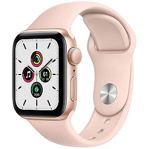 Apple Watch SE 44 mm A2352 MYDR2LL / A GPS - Gold Aluminum / Pink Sand - Original Lacrado na Caixa - 1 Ano de Garantia Apple