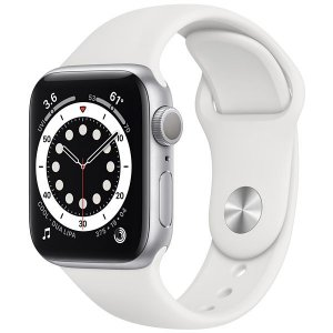 Apple Watch Series 6 40 mm A2291 MG283LL / A GPS - Silver Aluminum / White Sand - Original Lacrado na Caixa - 1 Ano de Garantia Apple