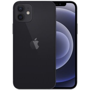 "Apple iPhone 12 A2172 64GB Super Retina XDR de 6.1"" Dual de 12MP / 12MP iOS - Preto - Original Lacrado na Caixa - 1 Ano de Garantia Apple"