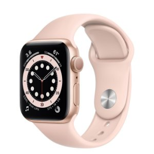 Apple Watch Series 6 44 mm A2291 MG123LL / A GPS - Gold Aluminum / Pink Sand - Novo Lacrado na caixa - 1 Ano de Garantia Apple