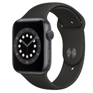 Apple Watch Series 6 44 mm A2291 MG133LL / A GPS - Grey Aluminum / Black - Novo Lacrado na caixa - 1 Ano de Garantia Apple