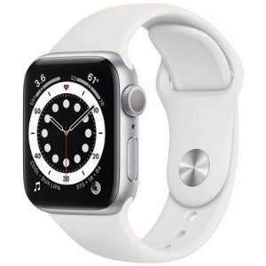 Apple Watch Series 6 44 mm A2291 MG283LL / A GPS - Silver Aluminum / White Sand - Original Lacrado na Caixa - 1 Ano de Garantia Apple