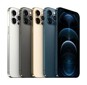 """Apple iPhone 12 Pro Max 256GB Super Retina XDR OLED de 6.7"""" Dual de 12MP / 12MP iOS - Original Lacrado na Caixa - 1 Ano de Garantia Apple - MGDF3BZ/A"""