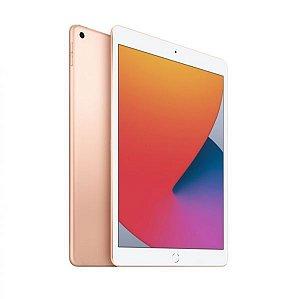 """iPad 8 Apple, Tela Retina 10.2"""", 128GB, Dourado,  Wi-Fi - MYLD2BZ/A"""