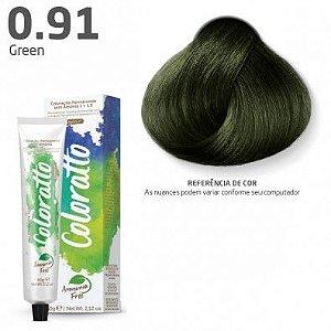 COLORAÇÃO SEM AMÔNIA COLORATTO 60G GREEN 0.91
