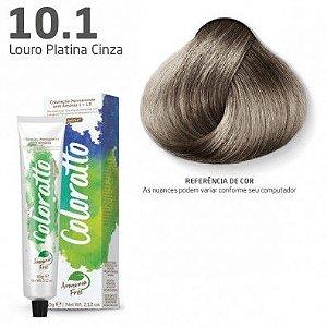 COLORAÇÃO SEM AMÔNIA COLORATTO 60G LOURO PLATINA CINZA 10.1
