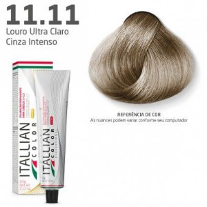 COLORAÇÃO ITALLIAN COLOR 60G LOURO ULTRA CLARO CINZA INTENSO 11.11