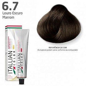 COLORAÇÃO ITALLIAN COLOR 60G LOURO ESCURO MARROM 6.7