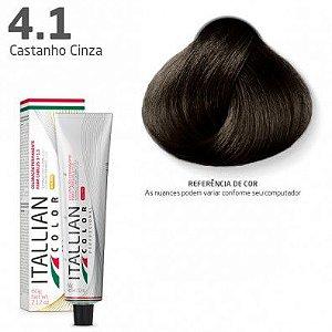 COLORAÇÃO ITALLIAN COLOR 60G CASTANHO CINZA 4.1