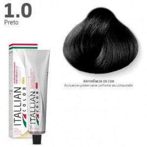 COLORAÇÃO ITALLIAN COLOR 60G PRETO 1.0