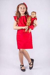 Vestido Princess de Algodão Vermelho