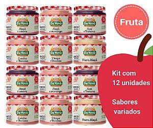 Papinha 100% fruta -  Kit com 12 unidades
