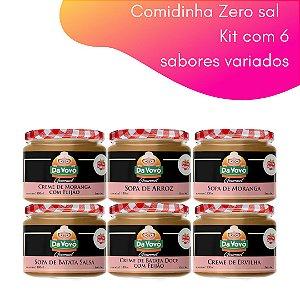 Comidinhas Zero sal - 100ml. kit com 6 unidades