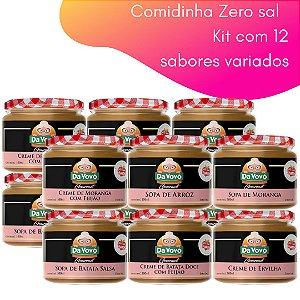 Comidinhas Zero sal - 100ml. kit com 12 unidades