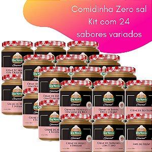 Comidinhas Zero sal - 200ml -  kit com 24 unidades
