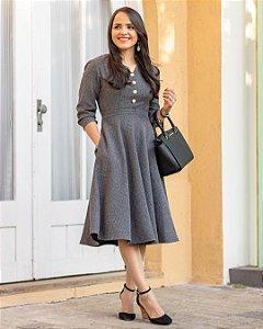 Vestido Orleans - Cinza