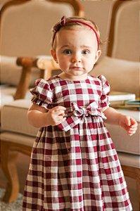Vestido Infantil Xadrez Vermelho