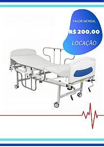 CAMA HOSPITALAR MANUAL - 2 MANIVELAS