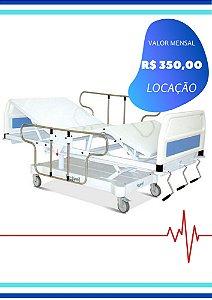 CAMA HOSPITALAR MANUAL - 3 MANIVELAS GRADE FERRO