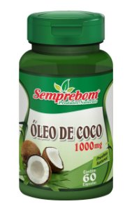 Óleo de Coco 1000mg - 60 cápsulas
