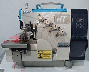 Máquina de Costura Overloque Eletrônica 4 Fios Lantece S80D-4-26 Direct Drive - Painel Acoplado