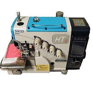 Máquina de Costura Overloque Eletrônica 4 Fios Lantece S90ED-4-26 Corte de Linha e Levante de Calcador Automático