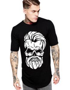 Camiseta long Line Caveira