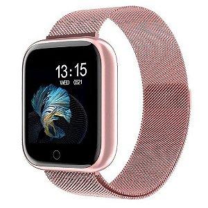 Smartwatch Feminino P70 Batimentos Duas Pulseiras
